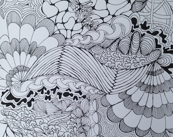 abstract zentangle