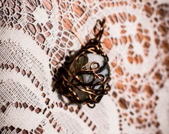 Rhyolite - Rafaresta Jasper - Coiled Wire Wrapped Pendant