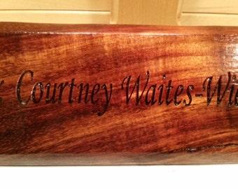 Koa Wood Desk name plate