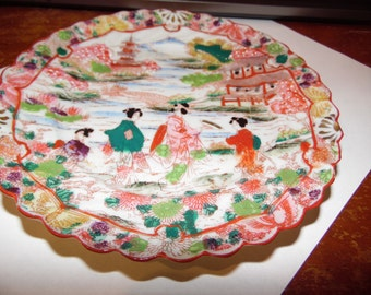 habd painted plate