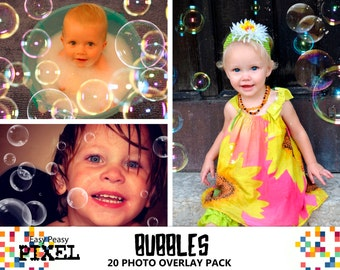 BUBBLES PHOTOSHOP OVERLAYS, Soap Bubbles Overlays, Photoshop Overlays, Blowing Bubbles Overlays, Portrait Overlays