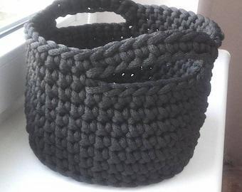 Knitted storage basket