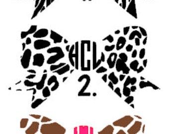 Iron-on Animal Print Monogram Decals-  Cheetah Print Monogram, Giraffe Print Monogram, Zebra Print Monogram