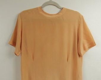 Peach Silk Casual Corner Blouse