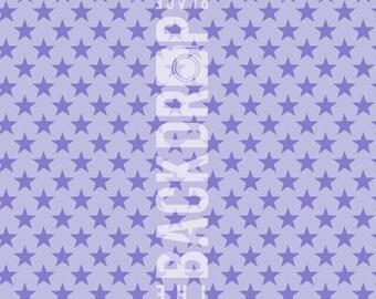 Large Photography Backdrop - Purple Stars - 5'x5', 5'x6', 5'x7', 5'x10'