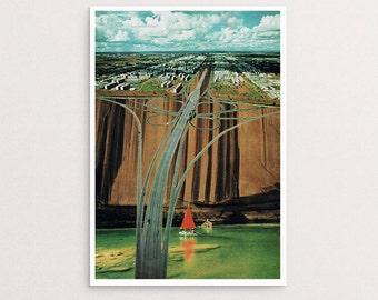 Collage Art. Urban Leisure. Art Print. A5 to A2 Wall Art. Collage Print. Collage design. Giclee Print. Large Wall Art.