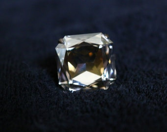 Handmade Square Crystal Ring
