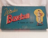Vintage 1940s Milton Bradley Winko Baseball Board Game