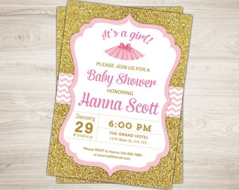 baby shower invitation girl baby shower invitation tutu girl baby