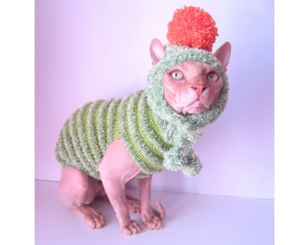 clothes for sphynx, cat sweater, cat, cat costume, cat clothes, cat hat, sphynx sweater, cat xmas sweater, sphynx cat clothes, halloween