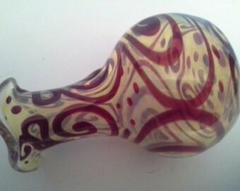 Mouthblown glass vase