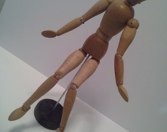 Dancing fool......vintage wooden artist model