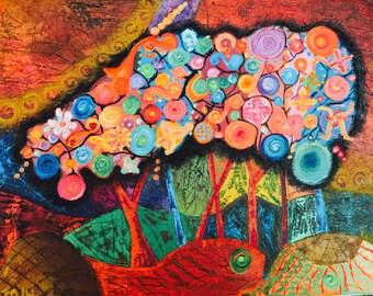 Life in color, oil, 50cmx40cm
