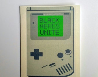 BIRTHDAY CARD  / NERD /  nerd greeting card / black nerds unite greeting card