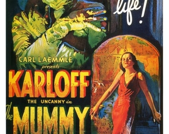 Vintage The Mummy Movie Poster Print