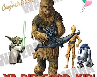 Star Wars Congratulations Card