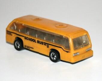 Vintage 1980's Mattel HOT WHEELS School Bus