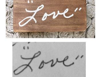 Custom Handwriting Gift; Unique handwriting gift; memorial gift; Memory Gift; Custom Handwriting Sign; personalized gift;