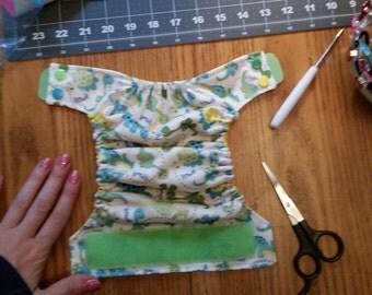 Custom: Newborn pocket cloth diapers