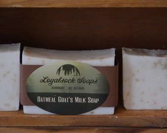 Oatmeal Goat's Milk Soap - organic, handmade, all natural, cold process