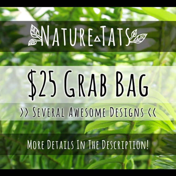 Grab Bag! Several Spectacular Temporary Tattoo Designs! FREE SHIPPING EVERYWHERE!