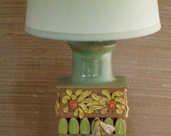 Stoneware Hand Built Bee Lamp