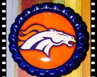 Denver Broncos Name Reel Retractable Badge Pull