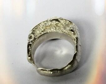statement Ring silver handmade