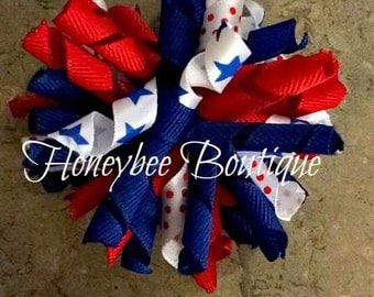 4th of July Korker Bow
