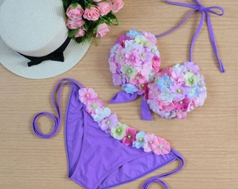 Violet Flower bikini