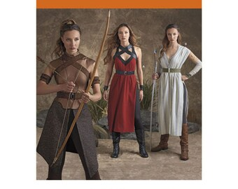 Sewing Pattern for Misses' Warrior Costumes, Simplicity Pattern 8074, Halloween Costume,Three Costume Pattern , Cosplay, Game of Thrones