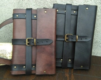 Leather spellbook with holster