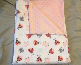 Soft and Cozy Ladybug Baby Blanket