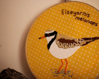 Customised bird embroidery