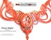 "micro macrame tutorial pattern ""Prom Night"" necklace / head crown/ tiara | PDF & 3 Videos"
