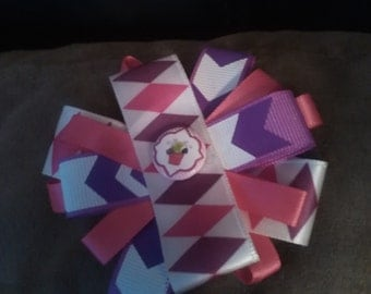 Pink and Purple Hair Bow