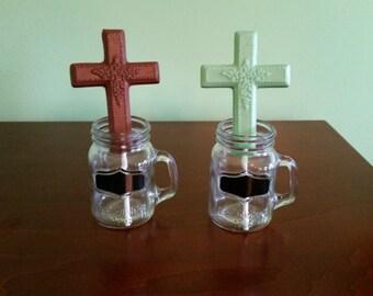 One dozen 12 Chocolate lollipops crosses for Baptism, Communion, Weddings, religious events