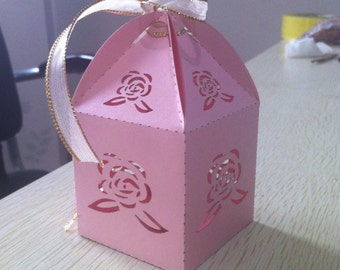 favors rustic wedding favor boxes small pearl paper pink box gift box