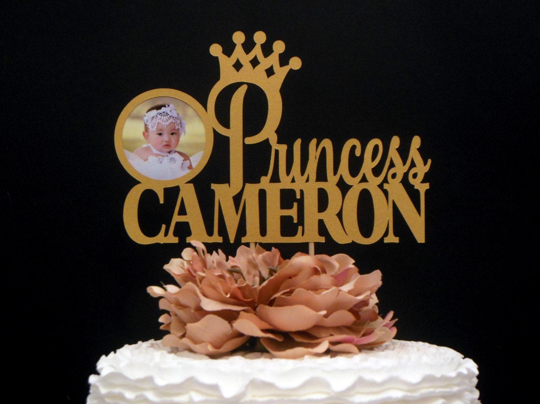 First Birthday Glitter Topper Personalize 1st Birthday Cake