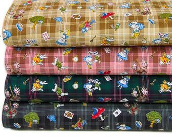 Japanese Kokka Cotton Fabric Alice in Wonderland-Half yard