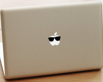 2 Mac book pro decal, Sunglasses Laptop Sticker for Apple MacBook / Pro / Air, funny mac book pro decal, birthday gift, laptop decal