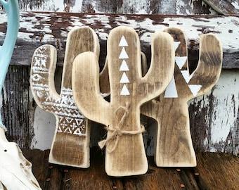 Cactus Sign | Wood Cactus Decor | Cactus Wall Art | Cactus Sign | Wood Cactus | Cacti Decor Set | Cacti Sign | Wood Cacti | Tribal Cactus