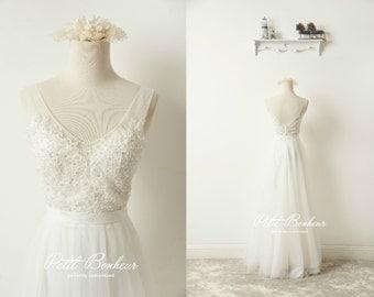 ec8453eed56 beaded beach wedding dress boho wedding dress beach wedding dress open back  boho wedding dress boho