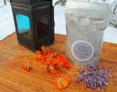 """Foot Soak, Glacial Clay, """"Just Breathe"""", Foot Soak, Hand Harvested Glacial Clay, Made In Alaska, Essential Oils, Wild Crafted Flowers"""