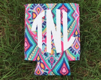 Monogramed Lilly Inspired Can Holders