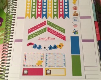 Planner Stickers: April showers functional sheet