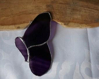 Purple Butterfly, stained glass, SunCatcher purple