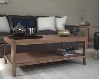 Walnut Mid Century Coffee Table, Mid Century front table, Mid Century sofa table -Ekais BQ Line