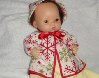 Baby It's cold Outside Baby Doll Coat and Hat