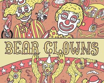Bare Clowns, Bear Clowns Print